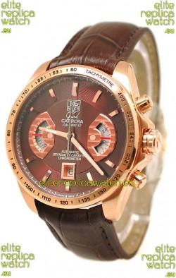 Tag Heuer Grand Carrera Japanese Replica Gold Watch