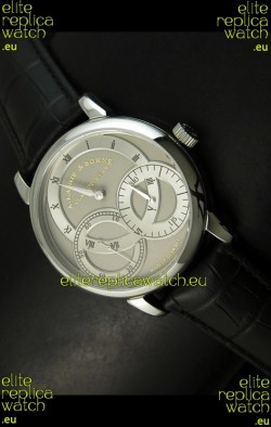Alange Sohne Dual Sub Dials Japanese Watch Black Strap