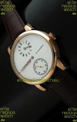 A. Lange & Sohne Cortes de Geneve Decorative Bridges Classic Replica Rose Gold Watch
