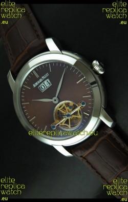 Audemars Piguet Jules Tourbillon Japanese Replica Watch in Brown Dial