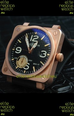 Bell and Ross BR01 97 Power Reserve Rose Gold Watchin Black Dial