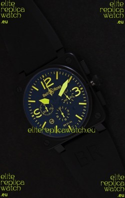 Bell and Ross BR01-94 7750 Swiss Watch in Yellow Markings