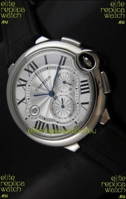 Cartier Ballon de Japanese Replica Watch in Silver White Dial