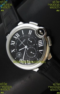Cartier Ballon de Japanese Replica Watch in Black Dial