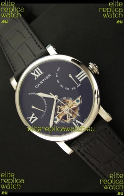 Cartier Calibre de Swiss Tourbillon Steel Watch