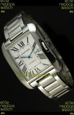 Cartier Tank Swiss Replica Watch in Stainless Steel Case