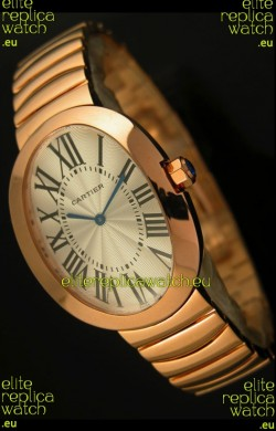 Cartier Baignoire Japanese Replica Watch in Yellow Gold