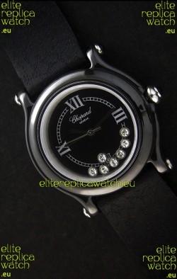 Chopard Happy Sport Japanese Replica Watch in Black Dial