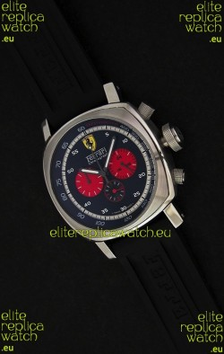 Ferrari Chronograph Japanese Replica Watch in Black Dial