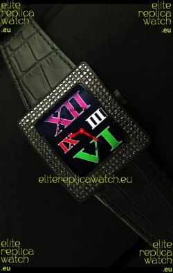 Franck Muller Geneve Infinity Japanese Special PVD Watch in Multi Color Roman Markers