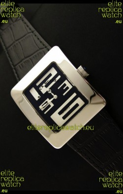 Franck Muller Geneve Infinity Japanese Steel Watch in White Numeral Markers