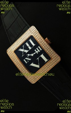 Franck Muller Geneve Infinity Japanese Gold Watch in White Roman Markers