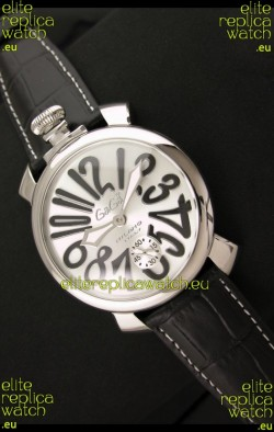 Gaga Milano Italy Japanese Replica Watch in Black Arabic Markers
