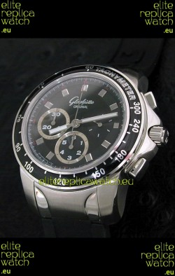 Glashuette Sport Evolution Swiss Chrono Watch in Black Dial