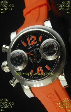 Graham Chronograph Swordfish Swiss Replica Watch in Orange Strap