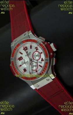 Hublot Big Bang Geneve Japanese Replica Watch in Aspen White Dial