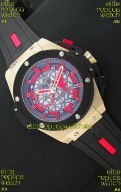 Hublot Big Bang King Power Manchester UnitedJapanese Replica Rose Gold Watch