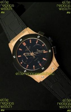 Hublot Big Bang Classic Fusion Chrono Quartz Watch with Ceramic Bezel