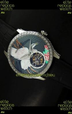 Jaeger LeCoultre Porcelain Crane Flying Tourbillon Watch - MIRROR REPLICA