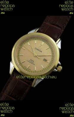 Omega Co-Axial Escapement Mechanical Golden Watch