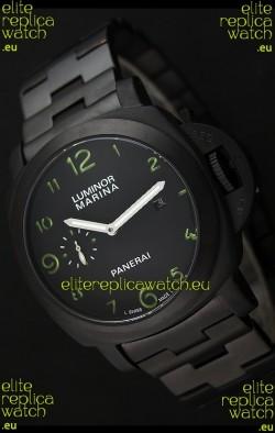 Panerai Luminor Marina Japanese Replica Watch in Green Markers