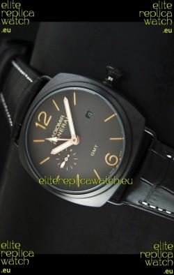 Panerai Radiomir GMT Japanese Replica Watch in PVD Case