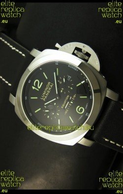 Panerai PAM365 L'Astronomo Luminor 1950 GMT Equation of Time Watch Black Dial Steel