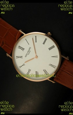 Patek Philippe Calatrava Ulta-Thin Japanese Replica Watch - 4MM Thick