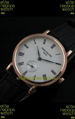 Patek Philippe Calatrava Japanese Mens Watch in Rose Gold