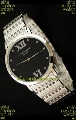 Patek Philippe Geneve Men Japanese Watch in Black Dial