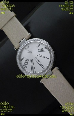 Piaget Altiplano Duo Dual Swiss Ladies Watch with Diamonds Bezel
