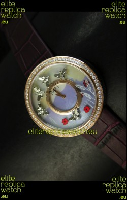 Piaget Altiplano Ultra-Thin Swiss Quartz Movement Ladies watch with Brown Strap