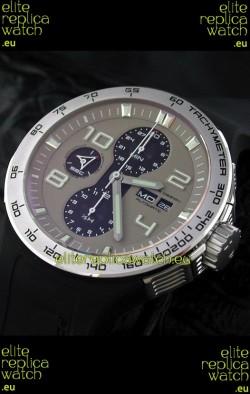 Porsche Design Flat Six P'6340 Swiss Chronograph Watch in Grey Dial