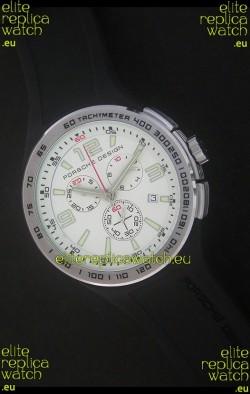 Porsche Design Flat Six P'6320 Japanese Watch in White Dial