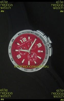 Porsche Design Flat Six P'6320 Japanese Watch in Red Dial