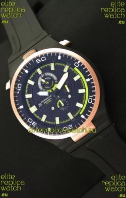 Porsche Design Diver Japanese Replica PVD Watch in Gold Bezel