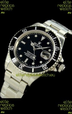 Rolex Submariner Oyster Perpetual Japanese Replica Watch in Black