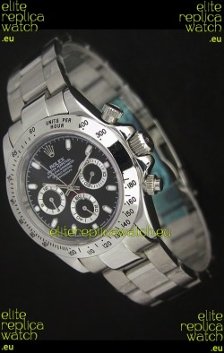Rolex Daytona Japanese Replica Watch in Black Dial