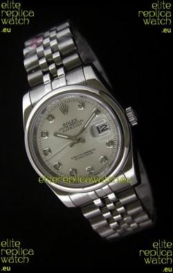 Rolex Datejust Mens Swiss Replica Watch in White Dial