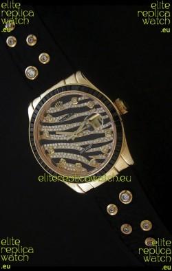 RolexDateJust Gold Diamond Japanese Replica Watch