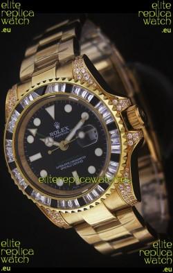 Rolex GMT Master II Swiss Replica Gold Watch