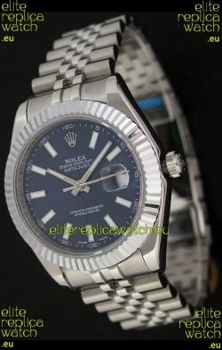 Rolex DateJust Japanese Replica Watch in Blue Dial
