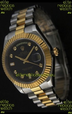 Rolex Datejust Japanese Replica Two Tone Yellow Gold Watch