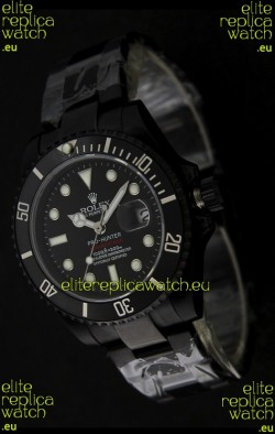 Rolex Submariner Pro Hunter Japanese PVD Watch in Black Carbon Dial