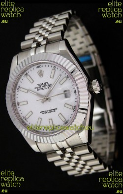 Rolex DateJust Japanese Replica Watch in White Dial