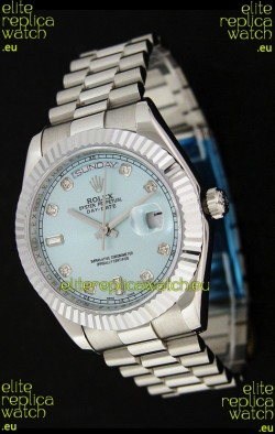 Rolex Oyster Perpetual Day Date Swiss Replica Watch in Light Green Dial