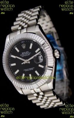 Rolex DateJust Japanese Replica Watch in Black Dial