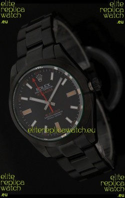 Rolex White Milgauss Black-Out SwissReplica Watch in Orange Markers