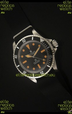 Rolex Vintage Submariner Japanese Replica Watch in Orange Markers