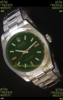 Rolex Oyster Perpetual Milgauss Swiss Replica Watch in Black Dial